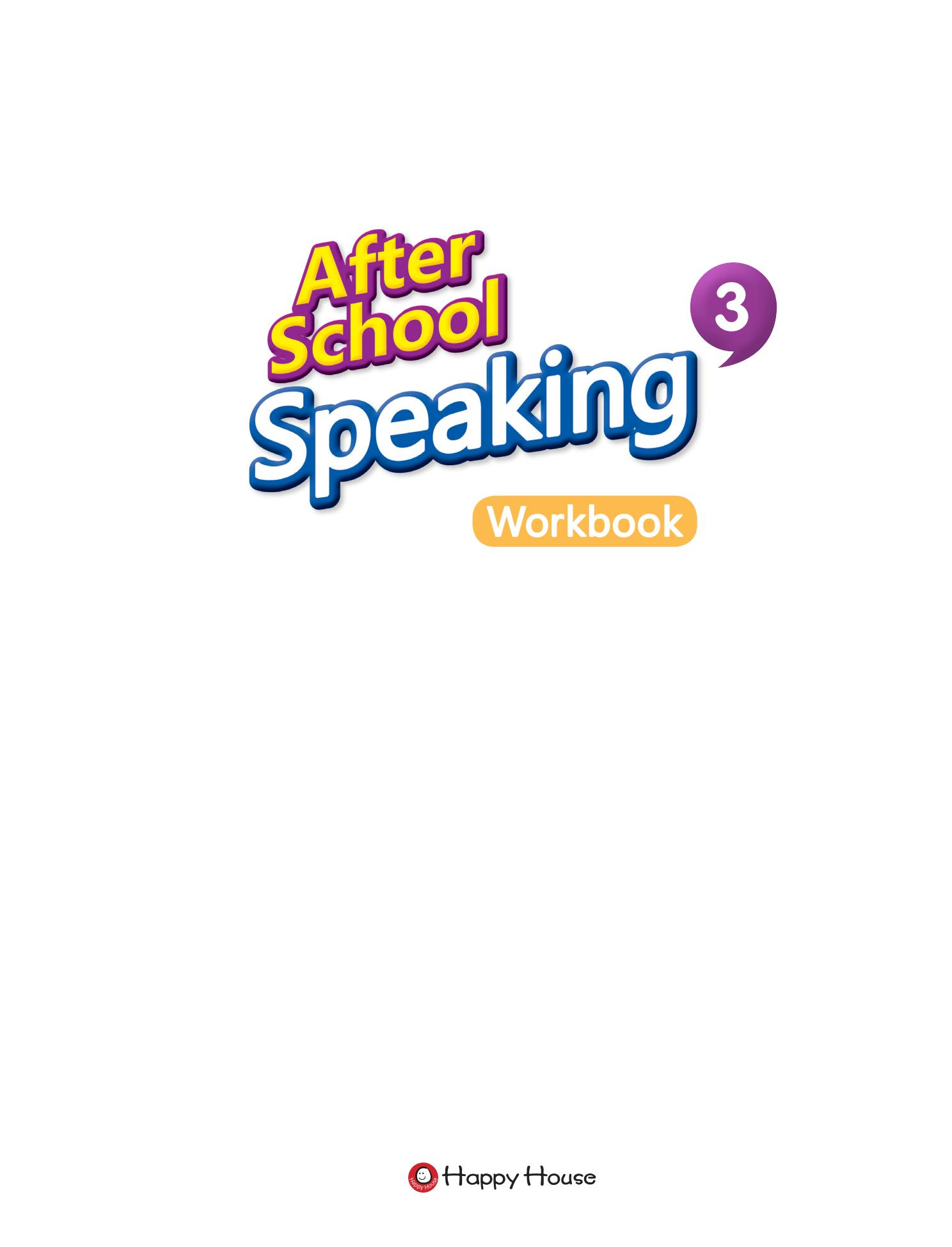 After School Speaking BOOK 3_WB