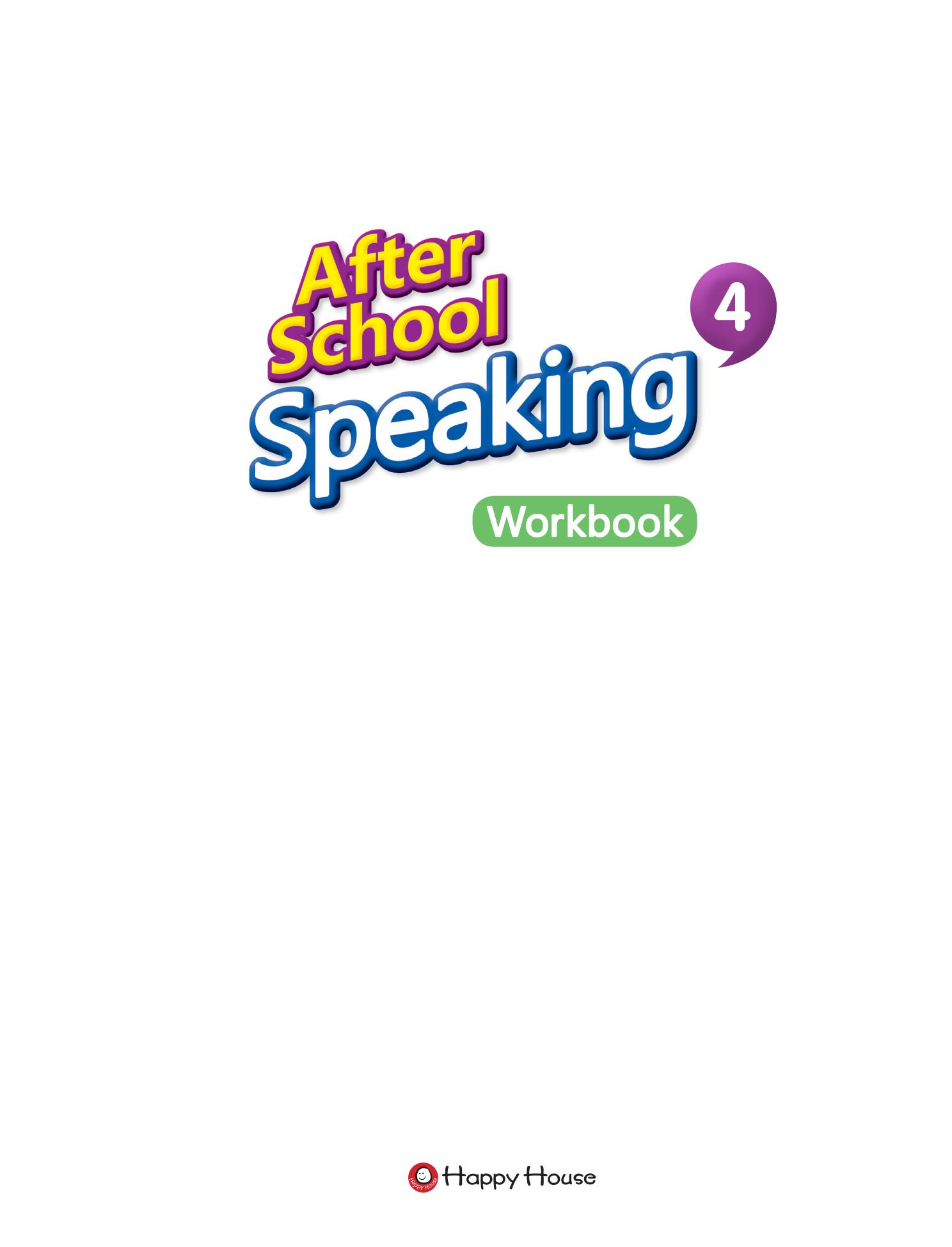 After School Speaking BOOK 4_WB